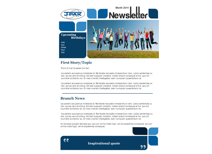 Email Newsletter Design and Development